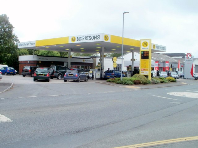 Morrisons petrol station and shop, Brecon