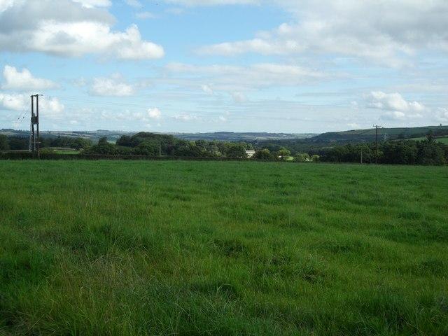Looking towards Stocksfield from Wheelbirks Farm