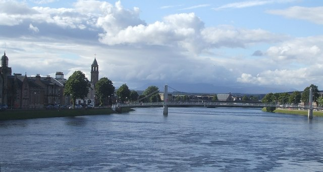 View down the Ness to Greig St Bridge