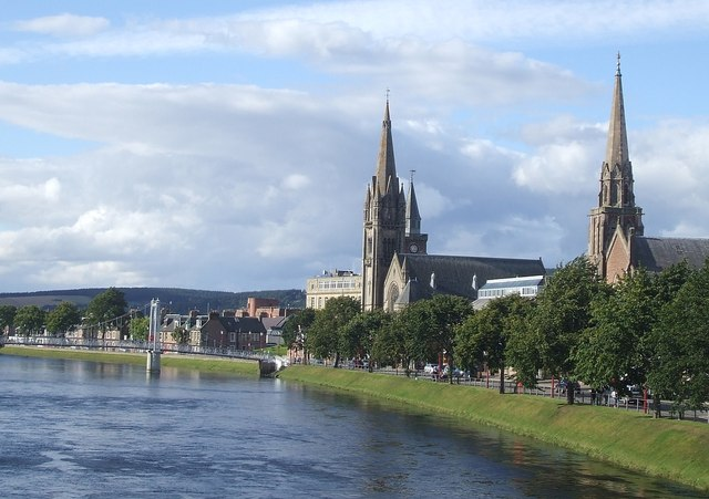 Churches along the river Ness