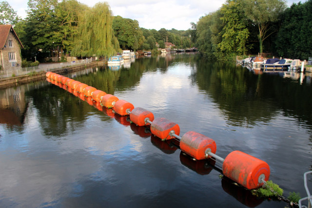 Weir Barrier across River Medway at Allington Lock, Kent