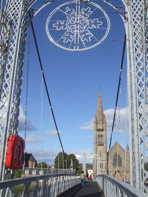 Greig Street Suspension Bridge & Free North Church