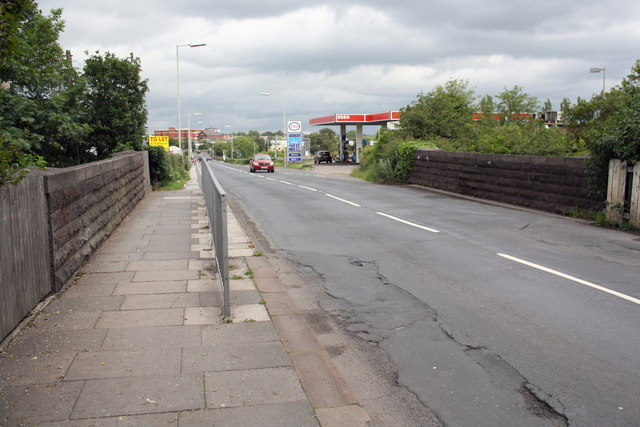 Currock Road: Railway Bridge at Petrol Station