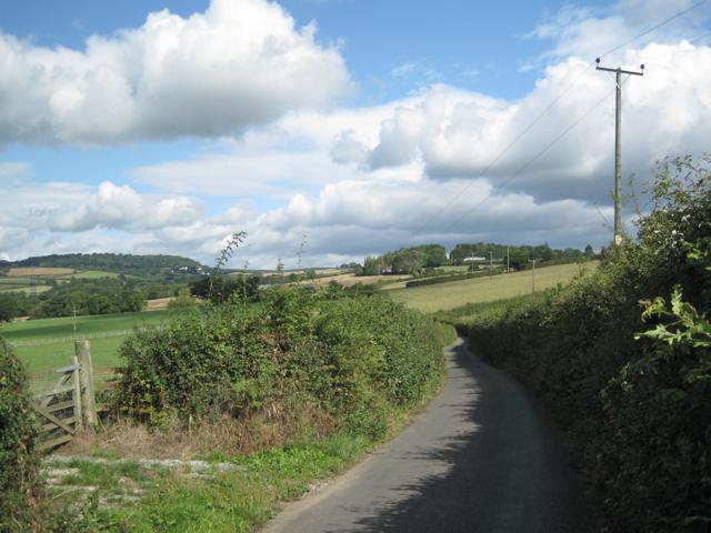 Lane north of Chudleigh Knighton