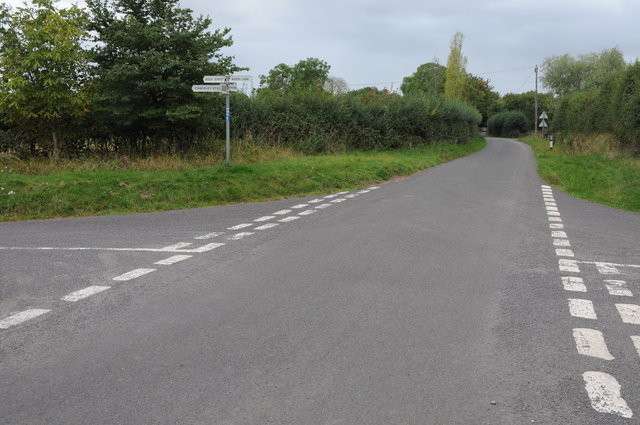 Road junction at Chaceley
