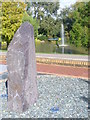 SU9850 : Menhir at Surrey University by Colin Smith