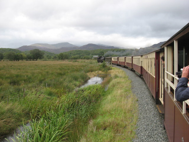 Welsh Highland Railway at site of Croesor Junction