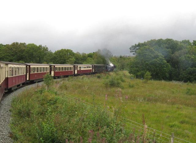 Welsh Highland Railway near Beddgelert Forest