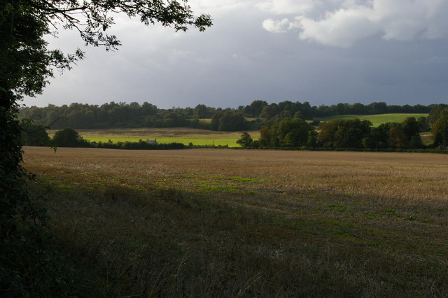 After the harvest: looking north-west off the London Loop