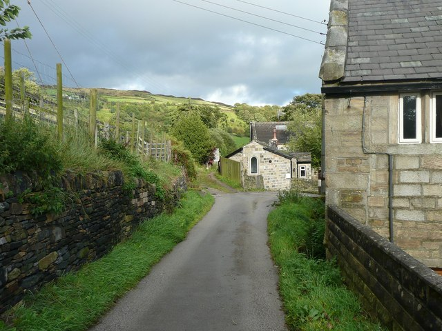Driveway to Wadsworth Banks Farm, Mytholmroyd