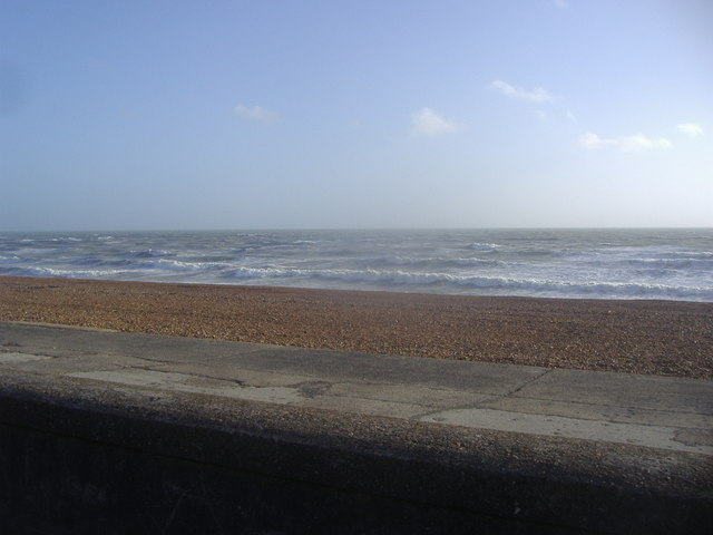 The sea from the Esplanade, Seaford