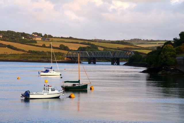 The Iron Bridge on the Camel estuary