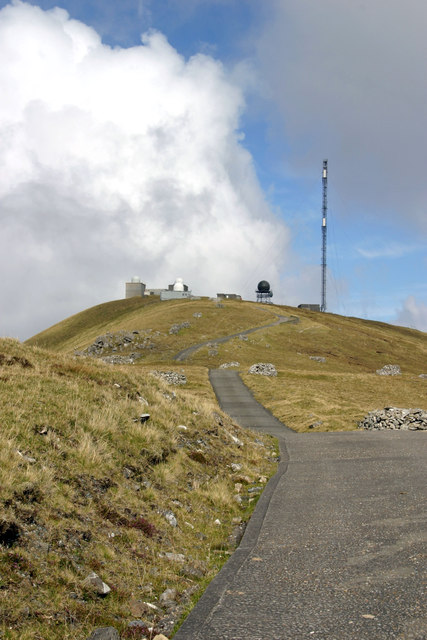 Radar station and communications mast on Mullach Mor, St Kilda