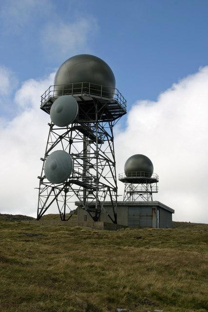 Radar domes, Mullach Mor, St Kilda