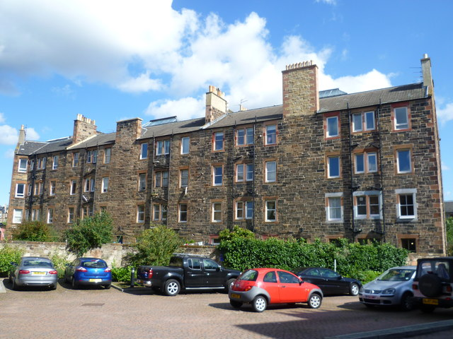 Tenement back, Hermand Crescent