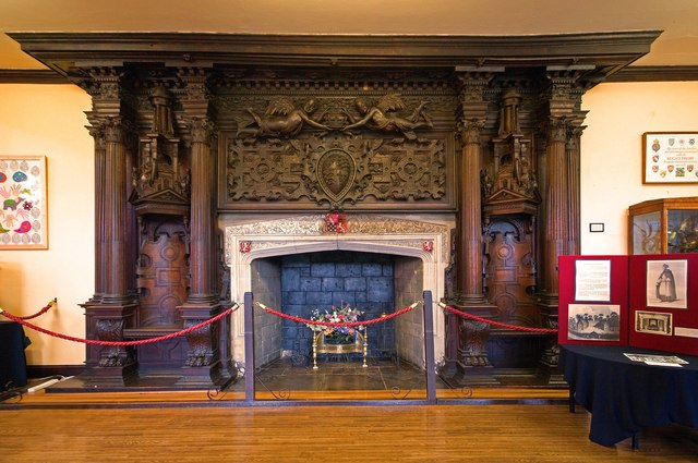 Fireplace, Holbein Hall, Reigate Priory