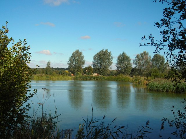 Fishing Lake and Church, Shalford
