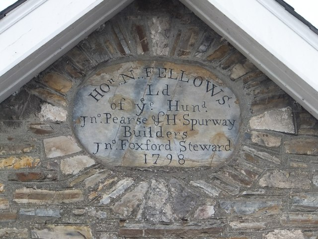 Inscription on the library building in Bampton
