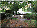 TM2972 : Footpath and bridge by All Saints' churchyard, Laxfield by Evelyn Simak
