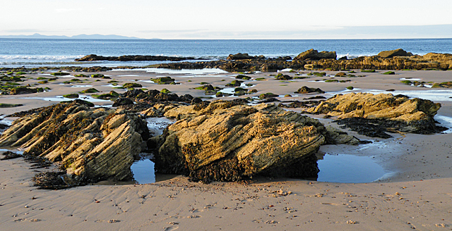 Outcrops on the Beach