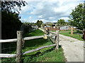 SU8527 : Entrance to Northend Farm Cottages by Dave Spicer