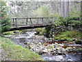 NN5954 : Footbridge over the Allt na Bogair by Russel Wills