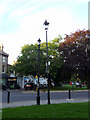 TQ3194 : Lamp Posts, Winchmore Hill Green, London N21 by Christine Matthews