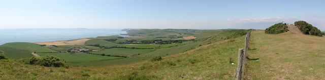 Panoramic View Westwards from Swyre Head