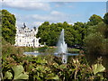 TQ2979 : The Swire fountain in the lake at St. James' Park by pam fray