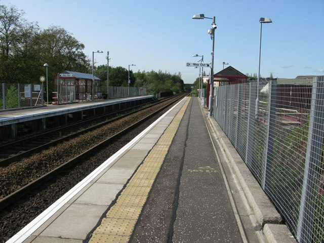 Gartcosh railway station, looking WNW