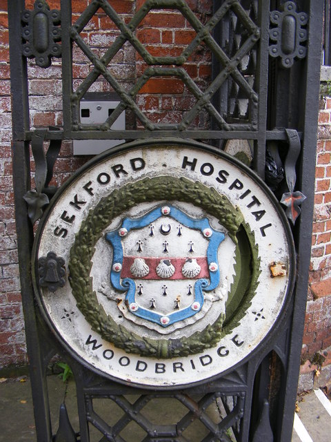 Name Plaque on the Gates of Seckford Hospital
