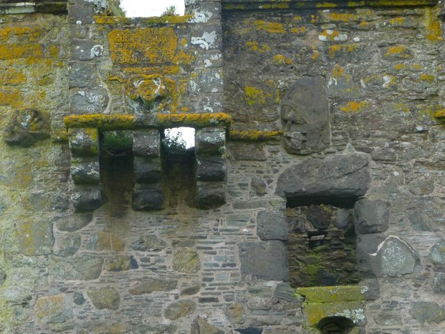 Panel beneath Oriel Window at Gylen Castle
