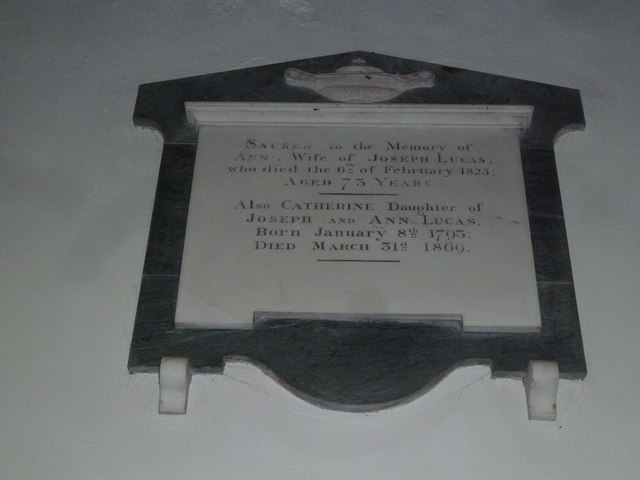 SS Peter & Paul, Wingrave: memorial (f)