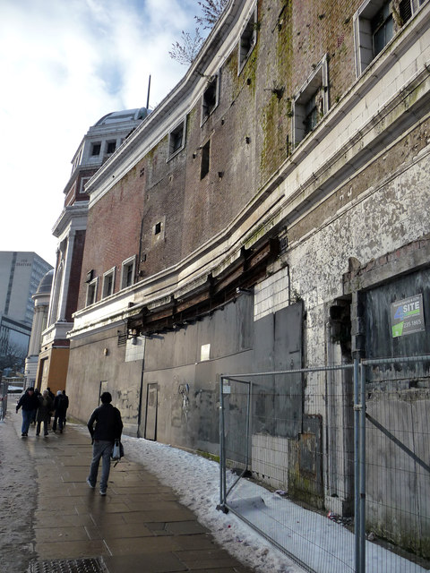 Frontage of disused Bradford Odeon cinema, Prince's Way