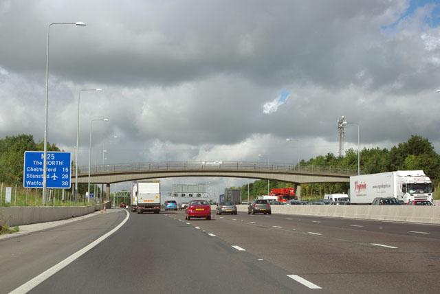 Bridleway bridge, M25