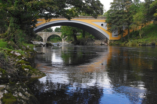 Bridges over river lune at kirkby lonsdale near to kirkby lonsdale
