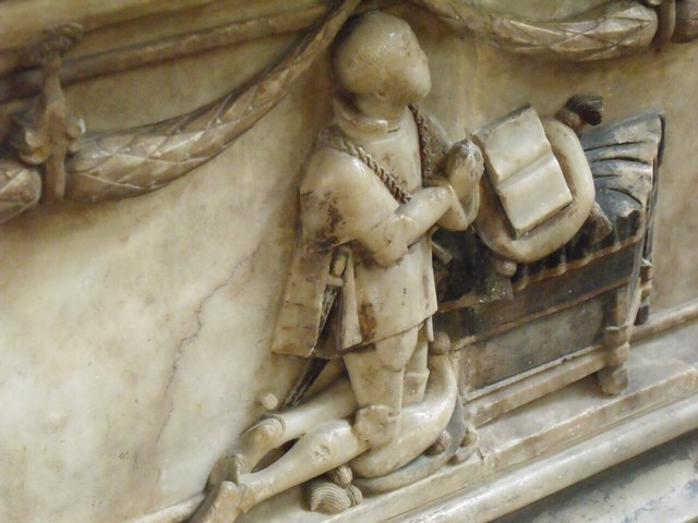 Carving on Tomb of 1st Earl of Rutland, Bottesford Church