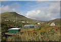 NL6698 : Polytunnel in Castlebay by Hugh Venables