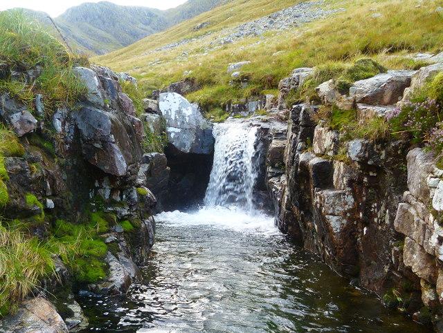 Waterfall in Fhionn Ghleann