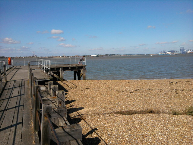 Jetty On The Orwell Estuary By Landguard Fort