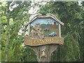 TL1344 : Old Warden Village Sign by Finlay Cox