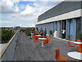 TQ2681 : City of Westminster College - 6th floor terrace by David Hawgood