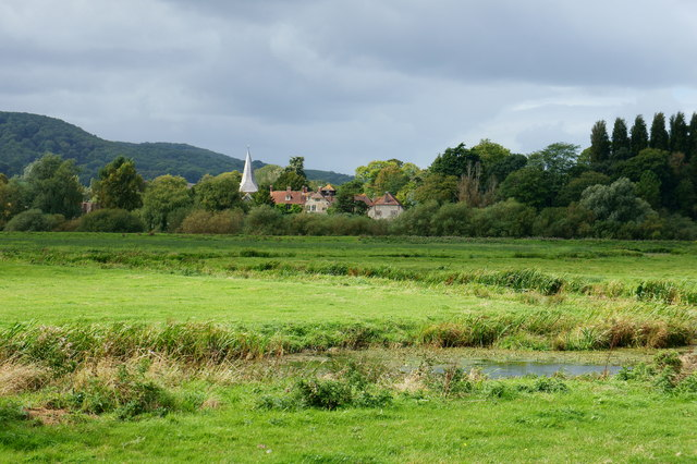 View Across the River Arun Flood Plain, Sussex