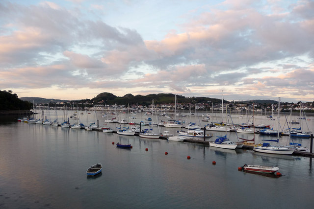 Moorings in Conwy Harbour