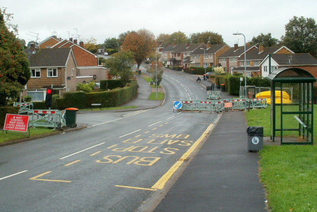 3-way control and a restored bus stop, Rowan Way, Malpas