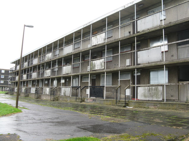 Low-rise flats at Sighthill Wynd