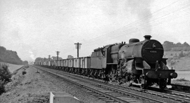 Up empties ascending the Lickey Bank with an LMS 2-6-0