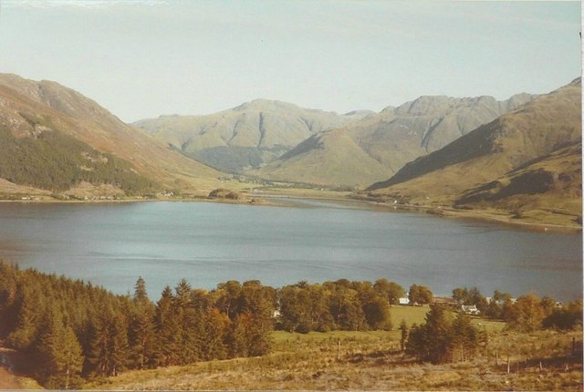 Looking down on Ratagan and Loch Duich in 1984