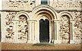SP8526 : St Michael & All Angels, Stewkley - West doorway by John Salmon