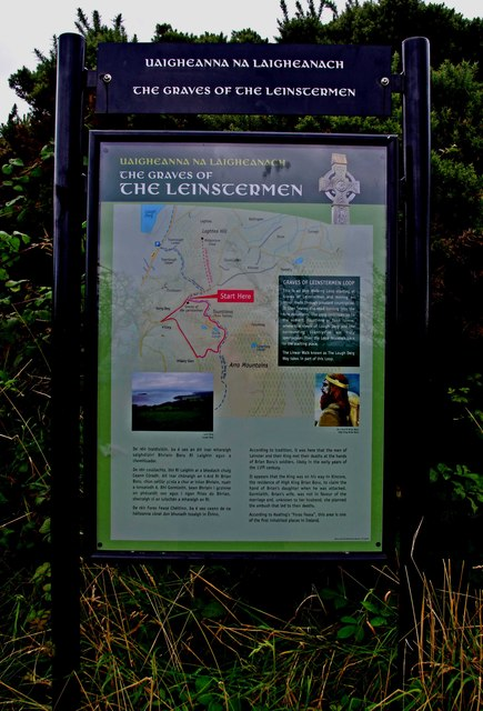 Graves of the Leinstermen (3) - Information board